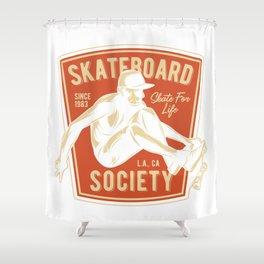 Skateboard Society Shower Curtain