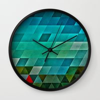 road Wall Clocks featuring road by Spires