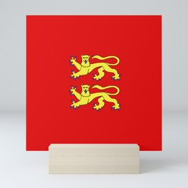 flag of normandie Mini Art Print