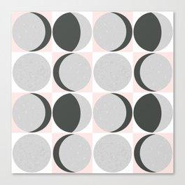Gray Moon Cycle Canvas Print