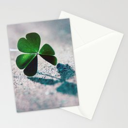 Green Clover Shadow Stationery Cards