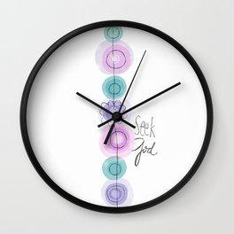 Seek God Wall Clock