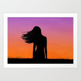 Sunset Blvd Art Print