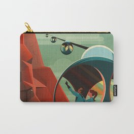 THE VOLCANO OF MARS - Olympus Mons | Space | X | Retro | Vintage | Futurism | Sci-Fi Carry-All Pouch