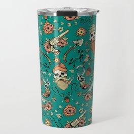 Green lumberjack pattern Travel Mug