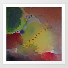 Watercolor Abstract Mini Series #4 Art Print