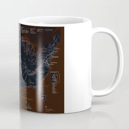 National Parks Trail Map Dark Neon Coffee Mug