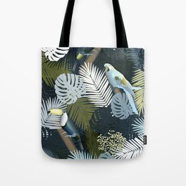 Toucan&Parrot (Blue-Green) Tote Bag