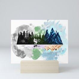 Go to The Mountains Mini Art Print