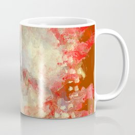 White Flower in Red Decoration Coffee Mug