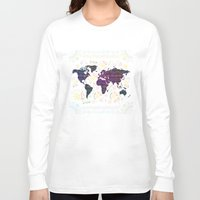 map Long Sleeve T-shirts featuring Map by famenxt