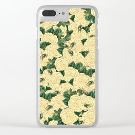 Yellow Rose Clear iPhone Case