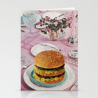 burger Stationery Cards featuring BURGER by Beth Hoeckel