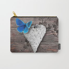 Heart & butterfly | coeur et papillon Carry-All Pouch