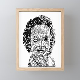 Richard Feynman Framed Mini Art Print