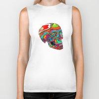 lsd Biker Tanks featuring LSD Skull by johannesart
