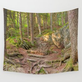 Green Mountain Forest Trail Wall Tapestry