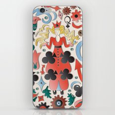 Queen of Clubs iPhone & iPod Skin