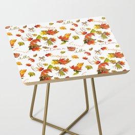 Autumn Leaves Hello Fall! Side Table