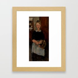"Amedeo Modigliani ""The Pretty Housewife (La Jolie ménagère)"" Framed Art Print"