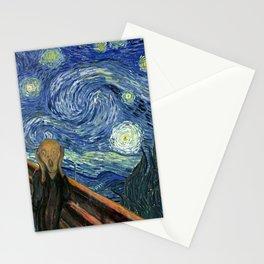 The Scream Starry Night Edvard Munch Vincent Van Gogh Stationery Cards