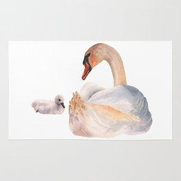 Swan Sweetness Rug