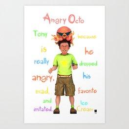 Angryocto - Tony's IceCream Art Print