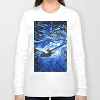 grateful dead Long Sleeve T-shirts featuring Jerry Garcia Blues Acrylic Painting Grateful Dead by Acorn