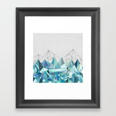 Colorflash 3 Turquoise Framed Art Print