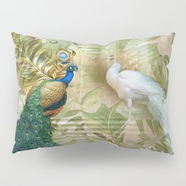 Vintage Royal Peacock Temple Dreams Pillow Sham