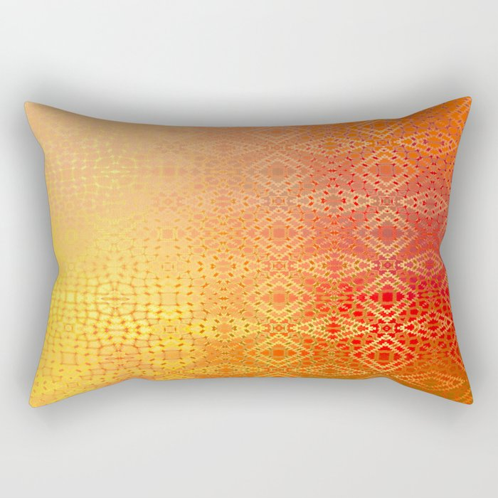 Diamonds Going On Forever (orange) Rectangular Pillow