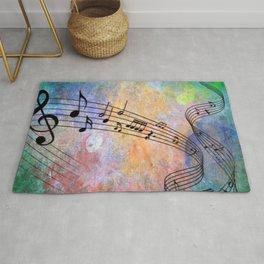 Abstract MUSIC Rug