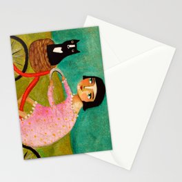 Bike Ride to the Vet by Tascha Stationery Cards
