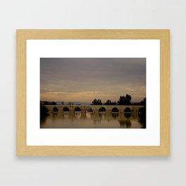 Bridge at Twilight Framed Art Print