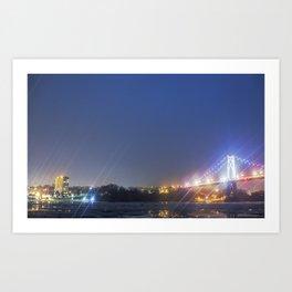 Lights of the small city Art Print