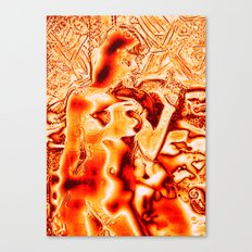Goldplated Nude Canvas Print