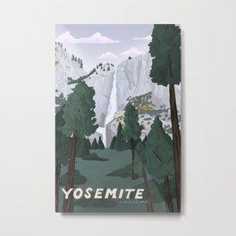 Yosemite National Park, Yosemite Falls, Waterfall, California Parks Metal Print