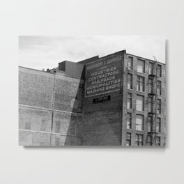 Industrial Ad Metal Print