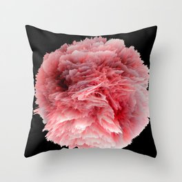 Fantasy Sea Anemone in Red Coral Throw Pillow