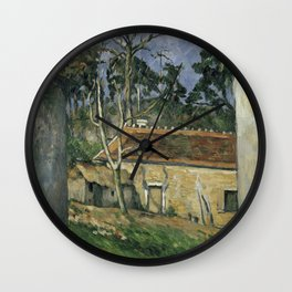 1879 - Paul Cezanne - Farmyard Wall Clock
