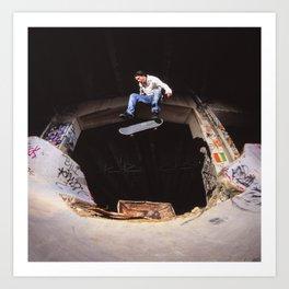 Bam Margra - kickflip at FDR Art Print