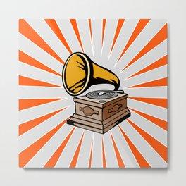 Phonograph with Sunburst Metal Print