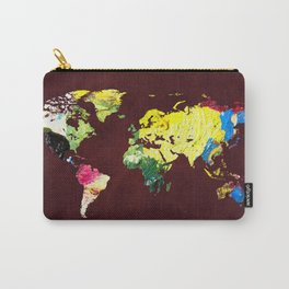 World Map 8 Carry-All Pouch
