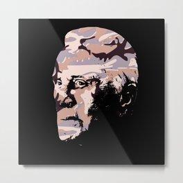 Celebrity in disguise wall art print Metal Print