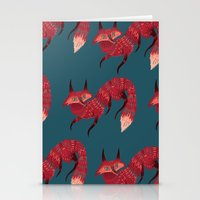 sweater Stationery Cards featuring F O X ! by Karl James Mountford