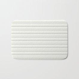 BM COY 2019 Metropolitan Light Gray Thin Horizontal Stripes on Snowfall White 2144-70 Bath Mat