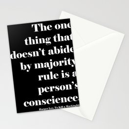Conscience Quote Stationery Cards