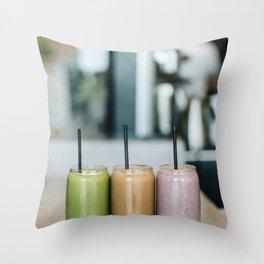 Organic Smoothies Throw Pillow