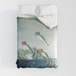 atmosphere 38 · Flying Fish Bowl Comforters