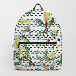 Beautiful Australian Native Grevillea Flower Print Backpack